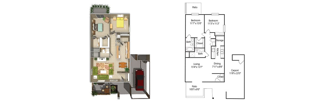two-bedroom-4plex